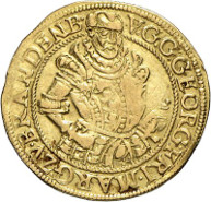 This is just one of many gems of the biggest collection of coins and medals from Brandenburg-Franconia ever to be on the market: a rare 1579 gold gulden, which played an important role at the royal wedding at Kulmbach. The Roland Grüber Collection will be on sale at Künker Auction 267 on September 29th and 30th, 2015.