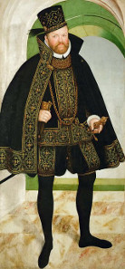 August von Sachsen, by Lucas Cranach the Younger, around 1572. Source: Wikicommons.