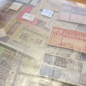 Holocaust-era currency donated by Robert Messing '59.