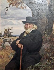 Bildnis des Dichters Hoffmann von Fallersleben vom Maler Ernst Henseler. Quelle: Wikicommons.
