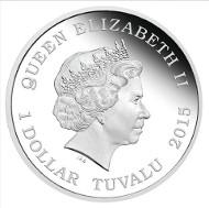 Tuvalu / 1 Tuvaluan Dollar / 1 oz / Silver .999 / 31.135 g / 40.60 mm / Designer: Jennifer McKenna / Mintage: 5000.