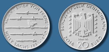 Deutschland / 2016 / 20 Euro / .925 Silber / 18 g / 32,5 mm / Design: Georg Mann, Halle an der Saale. © BADV.