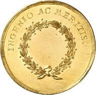 Lot 4868: BRANDENBURG IN FRANCONIA. Christian Frederick Charles Alexander, 1757-1791. Golden achievement medal of 10 ducats n. d. (around 1780) by John Samuel Götzinger. Ex Heidelberger Münzhandlung Auction 11 (1994), 1510. Extremely rare. FDC. Estimate: 10,000,- euros.