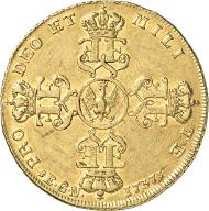 3075: Friedrich Wilhelm I. 1713-1740. Wilhelmsdor 1737 o. Mz., Berlin. v.Schr. 180, Neum. 1. Fr. 2363, R, ss+. Zugeschlagen: 5.800 Euro.