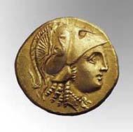 3 (5) SNG Tübingen 1086. Alexander d. Gr., Stater, Amphipolis um 336 v. Chr., Gewicht 8,60 g. Vs: Spätklassischer Athenakopf. Rs: Stehende Nike.