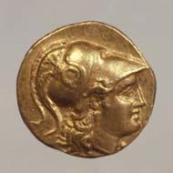 4 (6) SNG Tübingen 1088. Alexander d. Gr., postumer Stater, Babylon um 310 v. Chr., Gewicht 8,56 g. Vs: Athenakopf. Rs: Frühhellenistische Nike.
