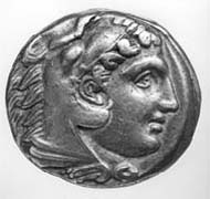 5 (7) SNG Tübingen 1092. Alexander d. Gr., Tetradrachme, Amphipolis um 323 v. Chr., Gewicht 17,01 g. Vs: Herakles im Löwenskalp. Rs: Thronender Zeus mit Adler und Szepter.