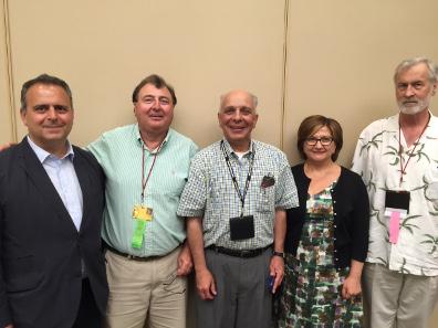 (L to R) Antique carpet dealer Oscar Tatosian, Dr. Chuck Hajinian, Dr Tamar Wasoian, Dr. Levon Saryan, and Frank Kovacs.