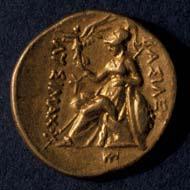 8 (21) Lysimachos von Thrakien, Stater um 290 v. Chr., Vs: Alexander mit Ammonshorn. Rs: Sitzende Athena mit Nike.
