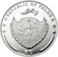 Palau / 5 Dollar / Silber .925 / 20 g / 38,61 mm / Auflage: 2.500.