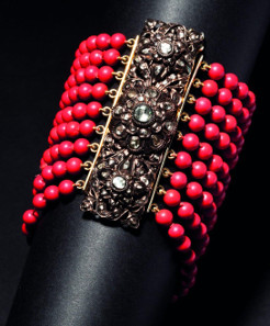 Empress Elisabeth of Austria - diamond-studded coral bracelet. Starting price: 25,000 Euros.
