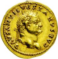 2063: Römisches Kaiserreich. Vespasianus. 69-79 n. Chr. Aureus.