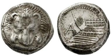2266: Sizilien. Messana. Als Zankle unter samischer Besetzung. Tetradrachme. 494/493 v. Chr.