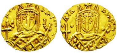 3115: Byzantinische Münzen. Irene. 797-802 n. Chr. Solidus.