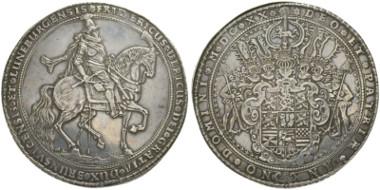 3790: Braunschweig-Lüneburg. Friedrich Ulrich. 1613-1634. Goslar. Breiter Löser 1620 zu 6 Reichtalern.