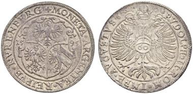 2011: Reichsguldiner 1595. Imhof S. 545, 78. Kellner 146, Dav. Appendix A 10038. Von größter Seltenheit. Unikat. Gutes vorzüglich. CHF 15'000.