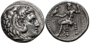Lot 36: Macedonia, Alexander III The Great. Tetradrachm. Starting $100.
