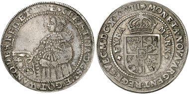 Sweden. Christina. 4 mark piece, 1638, Stockholm. Auction sale Künker 246 (2014), 3051.