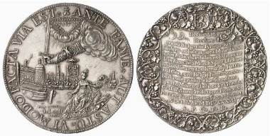 Netherlands. Breda. Silver medal, 1637 (by J. van Loof). On the capture of Breda. Auction sale Künker 116 (2006), 4218.