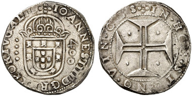 Portugal. John IV. 400 reis n. d., Lisbon. Auction sale Künker 254 (2014), 2451.