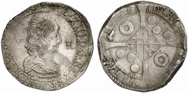 Spain. Under French siege. Louis XIII. 5 reales, 1642, Barcelona. Auction sale Künker 211 (2012), 2475.