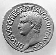 15 (20) RIC I2, 45. Tiberius, As, Rom 22-23 n. Chr., Vs: Porträt von Drusus II., Sohn des Tiberius. Rs: SC