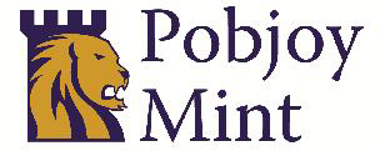 Pobjoy Mint's modern and heraldic logo was introduced in 2007 and is prominently displayed on their updated and user-friendly website.