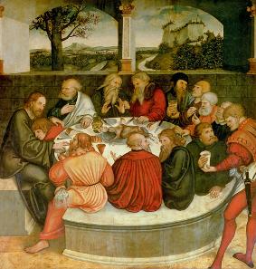 Ausschnitt aus dem Altarbild der Stadtkirche St. Marien zu Wittenberg. Quelle: Wikipedia.