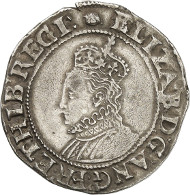 Elizabeth I, Queen of England (1558-1603). Shilling, 1591-1595. Crowned bust of Elizabeth I to the left. On the right, coat of arms on a long cross. © MoneyMuseum, Zurich.