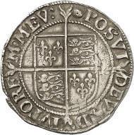 Elisabeth I., Königin von England (1558-1603). Shilling, 1591-1595. Gekrönte Büste Elisabeths n. l. Rs. Wappen auf langem Kreuz. © MoneyMuseum, Zürich.