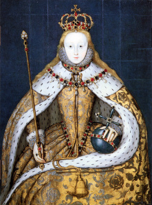 Coronation portrait of Elizabeth I. Source: Wikicommons.