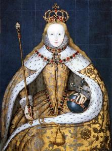 Krönungsporträt von Elisabeth I. Quelle: Wikicommons.