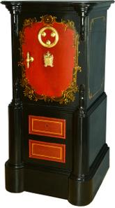 Portugal um 1870. Größe: 143 x 58 x 53 cm. 2 Schlüssel / Dreifach-Code Gewicht: 180 kg.