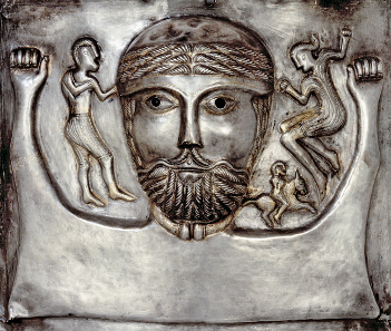 Details of: Gundestrup Cauldron. Silver. Gundestrup, northern Denmark, 100 BC-AD 1. © The National Museum of Denmark.