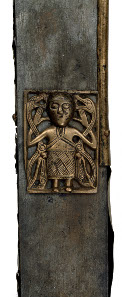 Tully Lough Cross. Wood, bronze. Tully Lough, north-west Ireland, AD 700-900. © National Museum of Ireland.