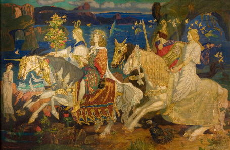 The Riders of the Sidhe. Tempera on canvas. John Duncan, 1911. © Dundee City Council (Dundee's Art Galleries and Museums).