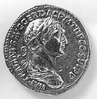 24 (33) RIC II, 303. Traian, Aureus, Rom 112-117 n. Chr., Gewicht: 7,240 g. Vs: Portrait mit Lorbeerkranz, Panzer, Paludamentum. Rs: Stehender Genius mit Schale und Füllhorn.