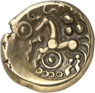 4: Celts. Eburones (Gallia Belgica). Electrum stater, after 54 BC. LT 8859. Very rare. Extremely fine. Estimate: 2,000 euros.