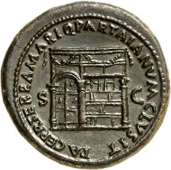 209: Nero, 54-68. Sestertius, 67. RIC 354. Shining black brown patina. Extremely fine specimen. Estimate: 15,000 euros.