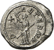 317: Philippus II, Augustus 247-249. Quinarius, Rome, 248. RIC 231b. King 369, 6. 3rd specimen known to exist! Very fine / extremely fine. Estimate: 5,000 euros.