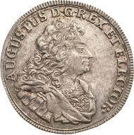 Los 2693: Friedrich August I., der Starke 1694-1733 2/3 Taler 1709. Vorzüglich. Schätzpreis: 5.000 Euro.