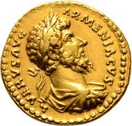 Rome. Lucius Verus, 161-169. Aureus 163/164. C. 247 var.; RIC 525. Extremely fine.