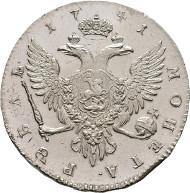 Russian Empire. Johann Antonowitsch (Iwan) III., 1740-1741 Roubel 1741, St. Petersburg. Bitkin 19; Dav. 1676. Very rare. Extremely fine/BU.