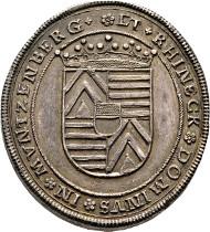 Hanau- Münzenberg. Philip Ludwig II. Silver medal without date (Gnadenpfennig) Suchier 16; Dav. 6682. Extremely rare. Extremely fine.