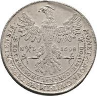 Dortmund, Stadt. Reichstaler 1698 (aus 1695 umgeschnitten), Berghaus 220 (
