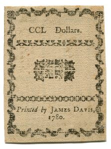 State of North Carolina, 250 dollars, May 10, 1780 (Pick S2271a).