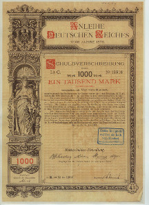 Loan of the German Reich 1878 (Germania Loans).