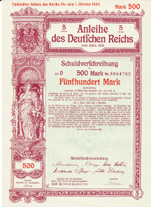 War Loans in the form of a normal loan of the German Reich 1916.