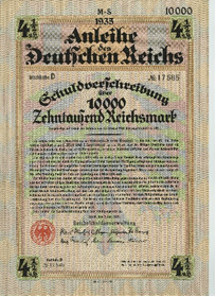 Loan of the Deutschen Reich 1935.