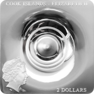 Cook Islands / 2 Dollars / 1/2 Unze / 35 x 35 mm / Silber .999 / Auflage: 1.500.